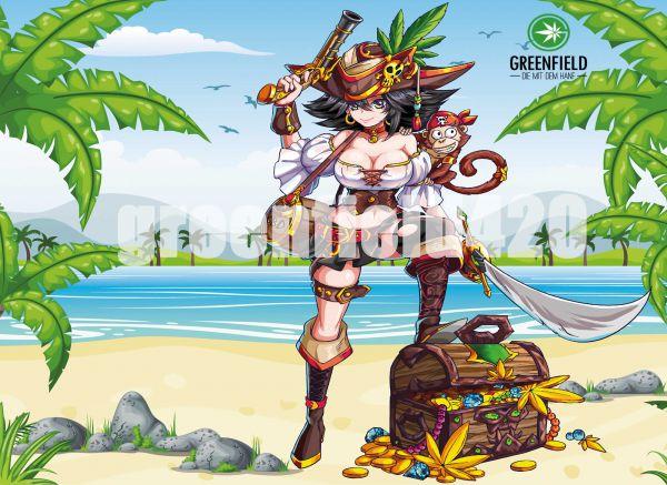 Manga Motiv Bild Pirate Queen
