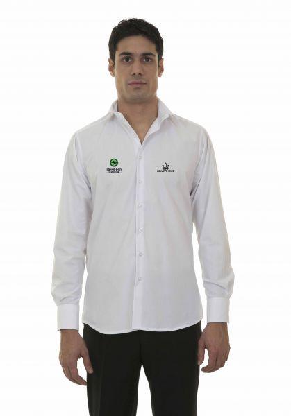 Herren Hemden Langarm mit Logo