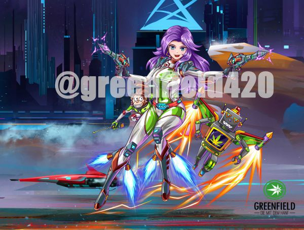 Manga Motiv Bild Space Raiders